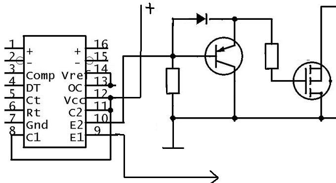 Цифровой инвертор 24-220в синус схема.