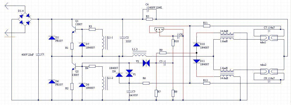 Принципиальная электрическая схема ebh-t8-362