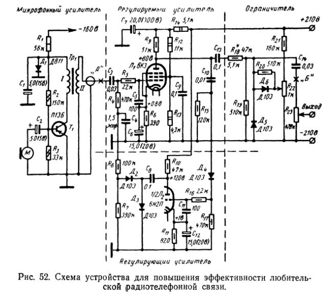Схема лампового гитарного компрессора