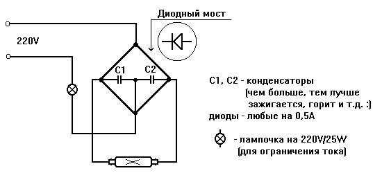 Схема преобразователя для
