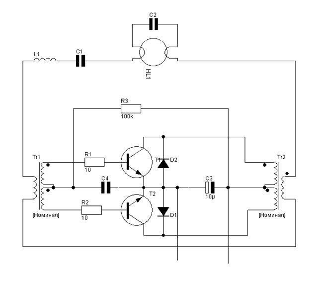 принципиальная схема энергосберегающей лампы космос - Всемирная схемотехника.