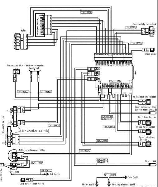 Zanussi fl 704 nn электрическая схема
