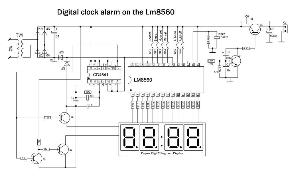 Lm8560 схема часов на светодиодах