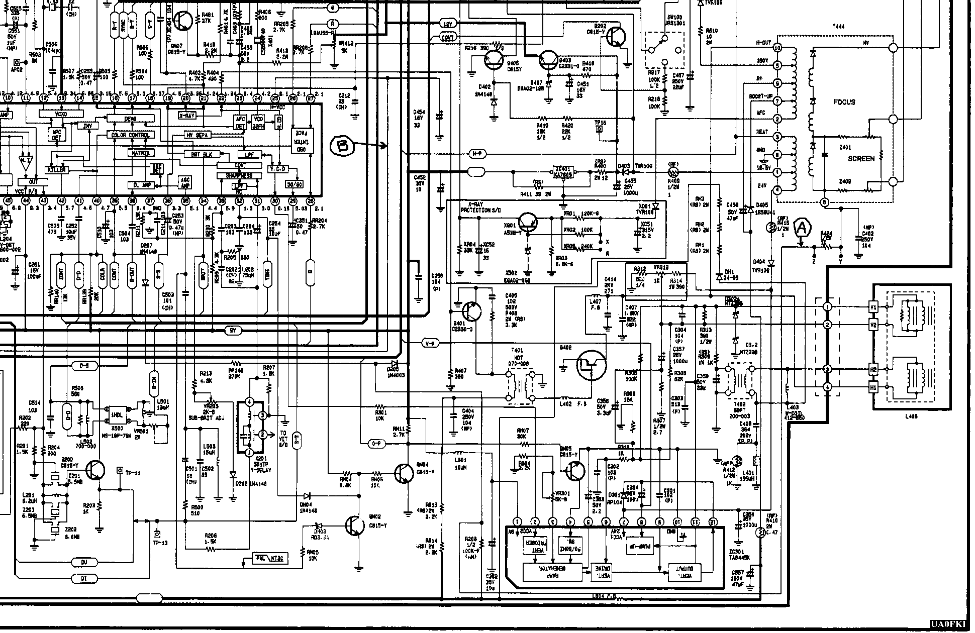 Samsung ck-5083zr схемы