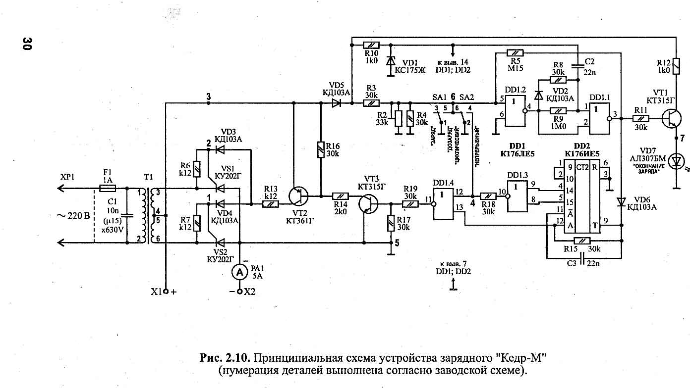 Схема зарядное устройства на 2а