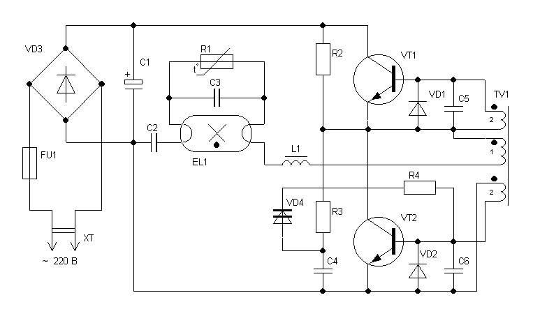 """Принципиальные схемы энергосберегающих ламп  """" RadioMaster 2 фев 2011 ."""